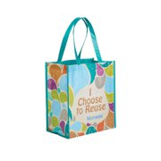 Grocery Tote Bag Recycled, Retro